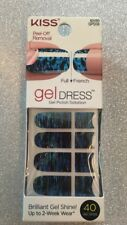 Kiss Nail Gel Dress Gel Polish Solution 40 Strips After Midnight Blue