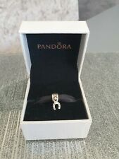 Genuine Silver Pandora Charm - Dangle Lucky Horse Shoe *With Box*