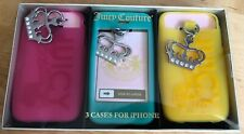 Juicy Couture Set Of 3 iphone 4 Covers,Rare,BNIB Still Sealed In Gift Box 2009