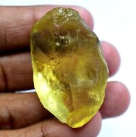 100% Natural Lemon Citrine 134.0 CT Specimen Facet Rough Gemstone Untreated