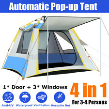 Waterproof Automatic Popup Outdoor Tent Camping UV Hiking Tent Travel 3-4