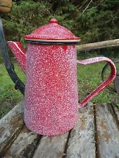 CAFETIERE EMAILLEE MOUCHETE A L'ANCIENNE 1,5L EMAIL TRADITIONNEL FAB FRANCE NEUF