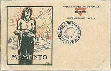 Italia Regno - FRANCHIGIA MILITARE :   MEMENTO - M.L.