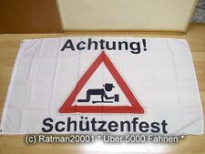 Fahnen Flagge Achtung Schützenfest - 90 x 150 cm