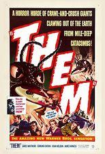 1950's Sci-Fi  * THEM ! *   Classic Movie  Poster 1954