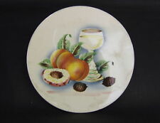 DESSOUS PLAT EN FAIENCE DECOR FRUITS GERMANY ART DECO