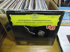 Herbert von Karajan Beethoven Symphonien 1&2 LP EX Deutsche Grammophon In Shrink