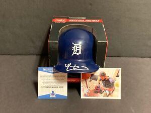 Riley Greene Detroit Tigers Autographed Signed Mini Helmet Beckett COA