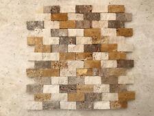 Mosaico a spacco in pietra per rivestimento pareti interni / esterni