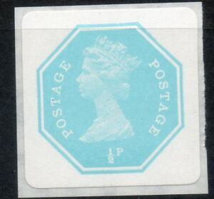 1970s ½p Privately Produced Octagonal Self Adhesive Machin. Square back, Rare