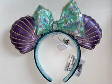 Disney Parks 30th Anniversary Ariel Little Mermaid Headband Minnie Mouse Ears