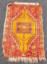 Antique Turkish Yastik / Mat, w/ Wear