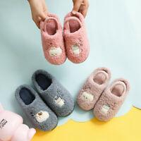 Toddler Kids Home Slippers Baby Girls Boys Cartoon Warm Indoors Floor Shoes