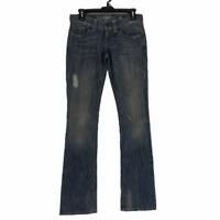 Guess Womens Blue Daredevil Stretch Dark Wash Bootcut Jeans Size 26