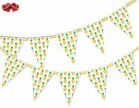 Exotic Summer Bunting Banner 15 flags Pineapple Pattern by Party Decor
