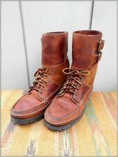 Ralph Lauren Vintage Leather Shoes 9D Moccasin Boots Polo Sports Sportsman 90s