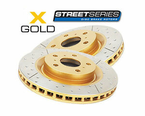 DBA X-GOLD Slotted F disc brake Rotors 298mm for Ford FALCON BA BF FG XR6 XR8