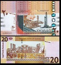 Sudan 20 Pounds 2017, UNC, 5 Pcs LOT, Consecutive, P-74, Prefix ES