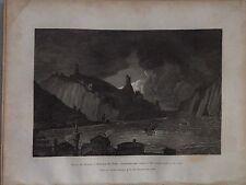 CRIMEAN PENINSULA, Bay of Balaklava,   original engraving, 1809.
