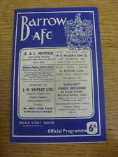 01/09/1965 Barrow v Rochdale  (Pin Hole To Corner). Unless previously listed in