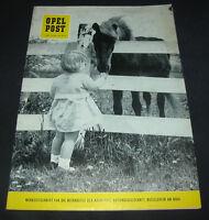 Werkzeitschrift Opel Post für Mitarbeiter Nr. 7 / 8  Stand Juli / August 1959!