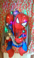 "SPIDERMAN  "" UGLY "" Tacky Christmas sweater X-LARGE  MENS L@@K LIGHTS :)"