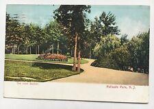 1907 Postcard Fort Lee New Jersey Palisades Amusement Park the Rose Basket path
