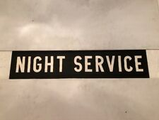 "Birmingham Linen Bus Blind 1978 34""- Night Service"