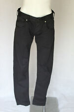🐍 SIZE 30 ARMANI JEANS BLACK COTTON BLEND DENIM JEANS LONG TROUSERS POST 5+FREE
