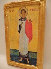 Saint Stephen Agios Stefanos Rare Orthodox Byzantine Icon Art One of A Kind