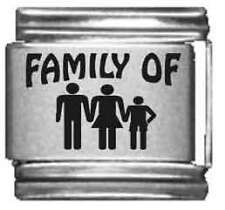 Clearly Charming Family of 3 Laser Italian Charm