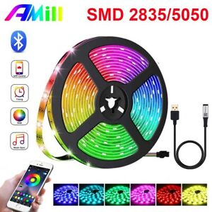 32.8FT Flexible USB SMD 2835/5050 RGB Led Strip Lights TV Backlight Room Decor