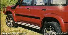 FORD COURIER REAR DELUXE FLARES FIBREGLASS PAIR