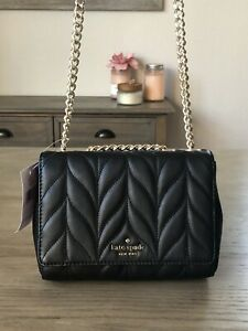 Kate Spade Mini Emelyn Black Briar Lane Quilted Shoulder Crossbody Bag