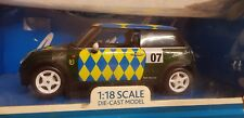 Foxtons Mini Cooper Blue & Yellow 1:18 Scale Die Cast Model Boxed & Sealed
