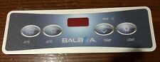 Balboa Spa Touch Pad overlay JETS JETS TEMP LIGHT Top side adhesive sticker only