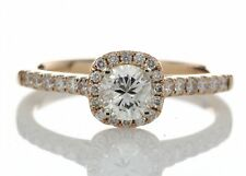 DIAMOND Halo Engagement Ring 0.74c G I1 18ct Rose Gold.Certificate AGI.FREE Ship