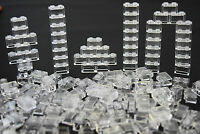 ☀️NEW LEGO Lot Of 50 1X2 Bricks White Transparent Clear Translucent trans clea