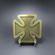 Black Iron Cross Western Bronze Plated Belt Buckle