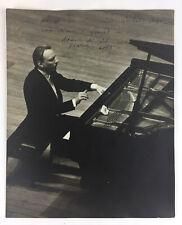 Arturo BENEDETTI MICHELANGELI (Pianist): Signed Photograph to Nikita MAGALOFF