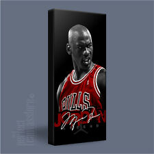 Michael Jordan NBA VINTAGE & Bulls legenda iconica tela stampa artistica art Williams # P