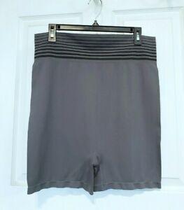 NWOT Cacique Lane Bryant Gray Light Hold Shaper ShapeWear Shorts Size 26/28
