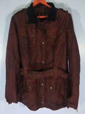 VINTAGE 90s BARBOUR HUNTING COAT WINDBREAKER WAX Burgundy JACKET Mens UK 16