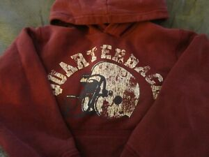 Boy/Girl heavy maroon child size M 7/8 Childrens Place pull over football