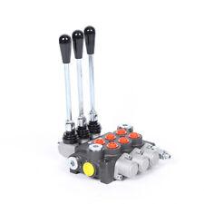 3 Spool P40 Hydraulic Directional Control Valve Manual Electric 20 80 Adj Us