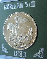 1936 Britain King Edward VIII Abdicated Pattern Crown Coin UNC in Display Case