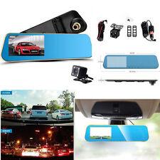 Double lentille HD 1080P Voiture SUV 4.3 LCD DVR rétroviseur enregistreur vidéo caméra