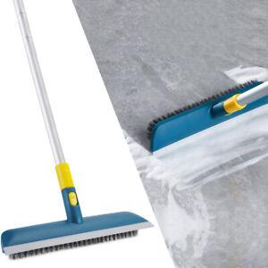 Floor Scrub Brush Push Broom Long Handle for Cleaning Tile Bathroom Tub Patio