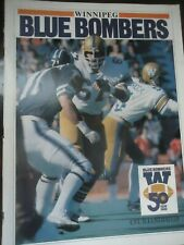 1980 CFL Canadian football program Winnipeg Blue Bombers @ Edmonton Eskimos