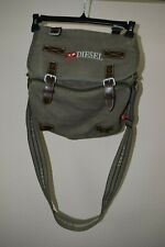 DIESEL Shoulder Messenger Bag Military Green Canvas Excellent!!! MSRP $198